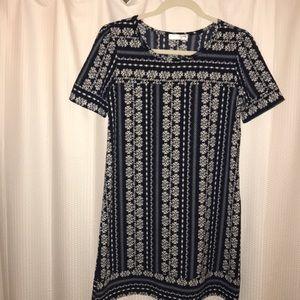 Summer navy short sleeve dress